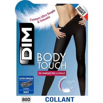 Collant bleu marine Body Touch Ultra Opaque 80D-DIM