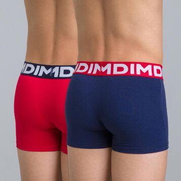 Lot de 2 boxers bleu matelot et rouge DIM Boy-DIM