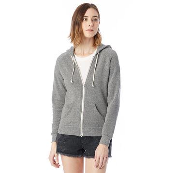 Sweat à capuche zippé gris Femme-DIM
