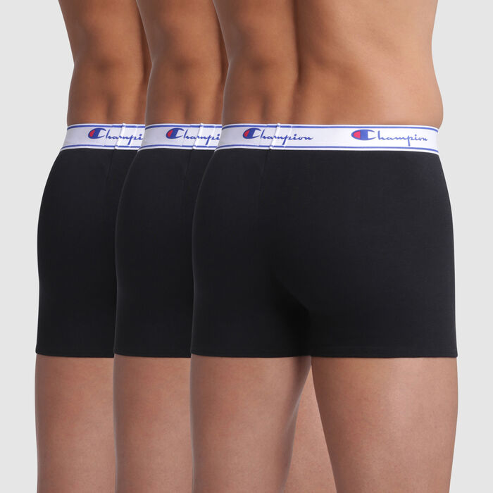 Lot de 3 boxers noirs coutures apparentes - Champion, , DIM