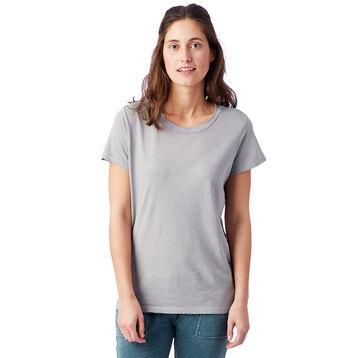 T-shirt Vintage gris à manches courtes 100% coton Femme-DIM