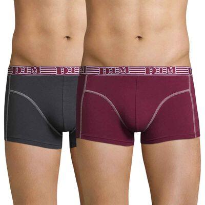 Lot de 2 boxers rouge et gris, , DIM