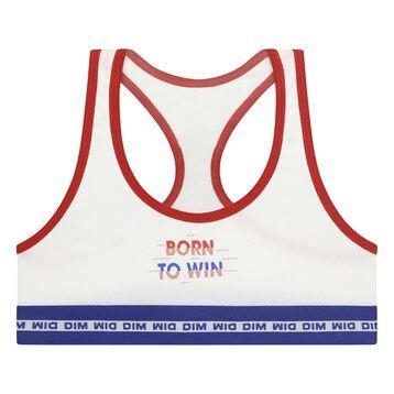 Brassière de sport pour fille en coton stretch Matelot Box Sport  , , DIM