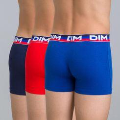 Lot de 3 boxers bleu matelot DIM Boy-DIM