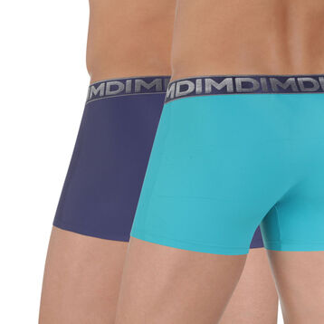Lot de 2 boxers bleus microfibre Chrome-DIM
