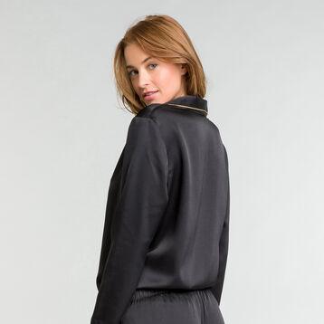 Chemise de nuit noire satin - Glamour Chic, , DIM