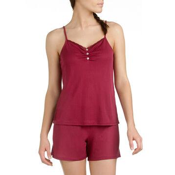 Caraco de pyjama rouge en lyocell Femme-DIM