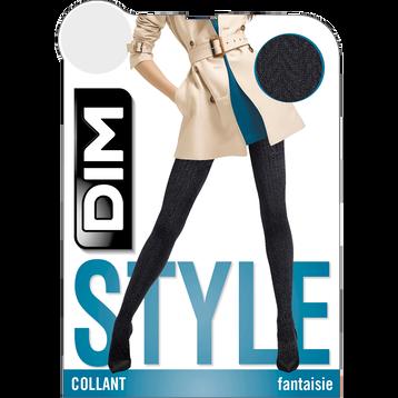 Collant chaud noir tressé Style 110D, , DIM