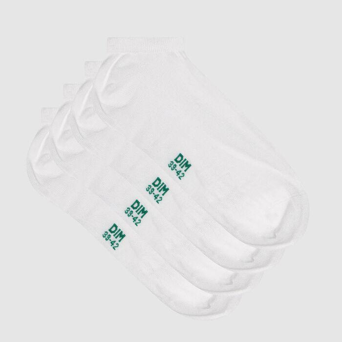 Lot de 2 paires de socquettes homme coton lyocell blanc Green by Dim, , DIM