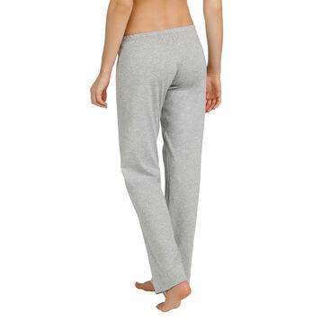 Pantalon de pyjama gris chiné 100% coton Femme-DIM