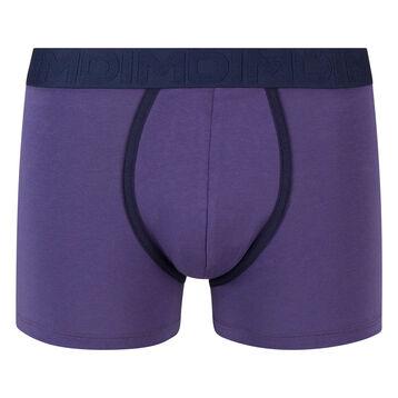 Boxer bleu précieux coton stretch à ceinture bleue Mix and Fancy, , DIM