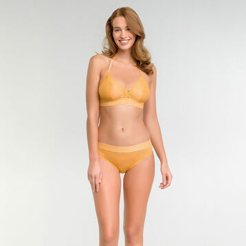 Shorty dentelle jaune or - MOD de Dim, , DIM