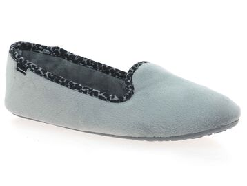 Chaussons gris Femme avec détails graphiques-DIM