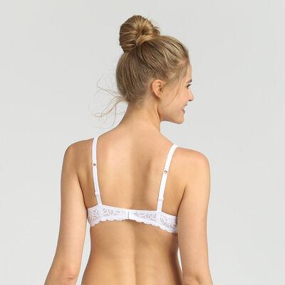 Soutien-gorge triangle sans armatures blanc Sublim Dentelle de Dim, , DIM