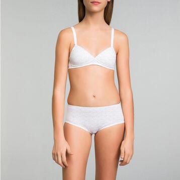 Soutien-gorge triangle imprimé logo blanc - DIM Touch Girl, , DIM