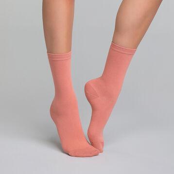 Chaussettes femme roses en coton - Dim Basic Coton, , DIM
