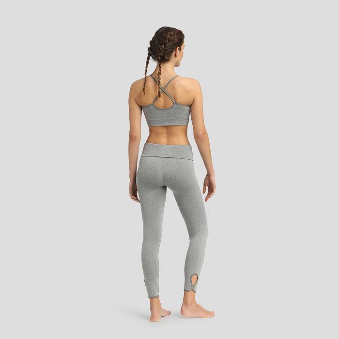 Legging sans coutures taille haute gris galet chiné Dim Sport, , DIM