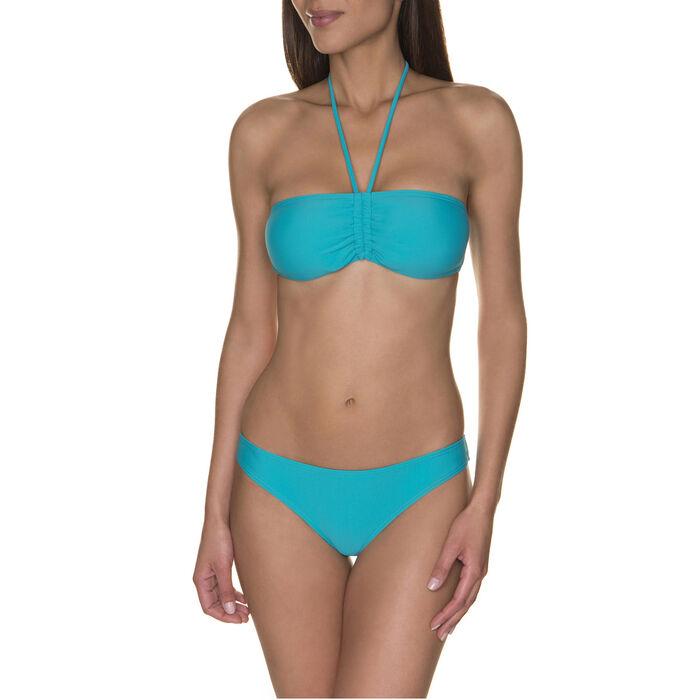Haut de maillot de bain bandeau bleu baltic Femme-DIM