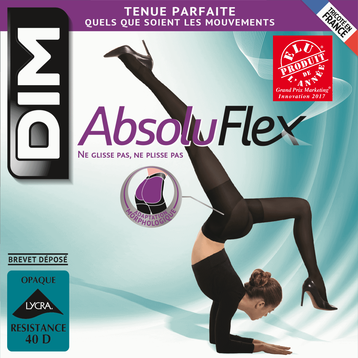 Collant noir AbsoluFlex opaque 40D-DIM