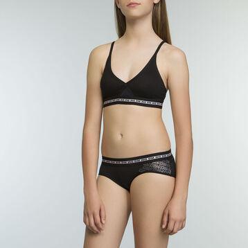 Soutien-Gorge Triangle de Sport Noir fille en coton stretch Dim Sport , , DIM
