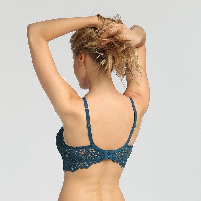Soutien-gorge emboitant avec armatures dentelle bleu organique Daily Glam Dim, , DIM