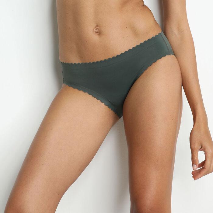 Culotte en microfibre vert-gris Body Touch Dim, , DIM