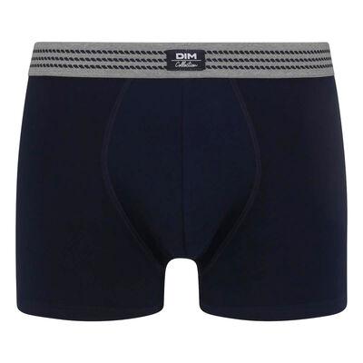 Boxer homme en coton stretch Bleu Nuit à ceinture grise Dim Élégant, , DIM