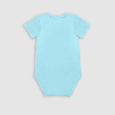 Lot de 3 body coton bio manches courtes à étoiles Bleu Dim Baby, , DIM