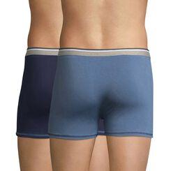 Lot de 2 boxers bleu grisé et bleu nuit Long Life-DIM