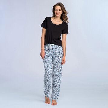 T-shirt noir à manches courtes Soft & Cool Femme, , DIM
