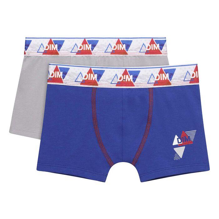 Lot de deux boxers pour garçon Outremer Courchevel en coton stretch, , DIM