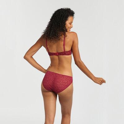 Culotte imprimé velours rouge vernis Sublim Velours de Dim, , DIM