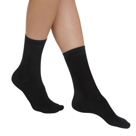 c9ee77d0dc537 Lot de 2 paires de chaussettes noires Light Coton Femme