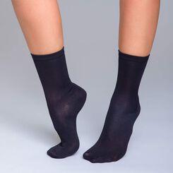Lot de 2  chaussettes noires ultra soft Femme-DIM