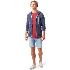 Sweat à capuche zippé bleu Homme-DIM