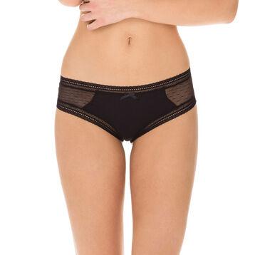 Lot de 2 shortys noirs coton et dentelle Sexy Transparency, , DIM