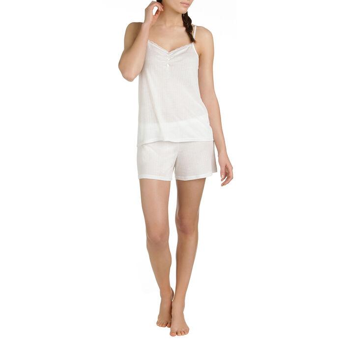 Short de pyjama nacre en lyocell Femme-DIM