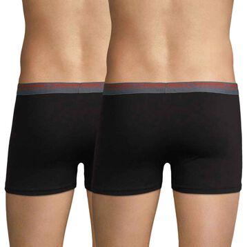 Lot de 3 boxers coloris hiver noir Daily Colors-DIM