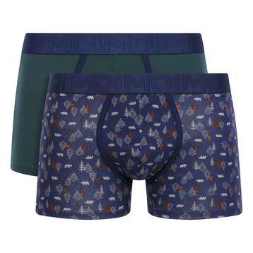 Lot de 2 boxers coton Imprimé Forêt et Vert Pacific Mix & Fancy, , DIM
