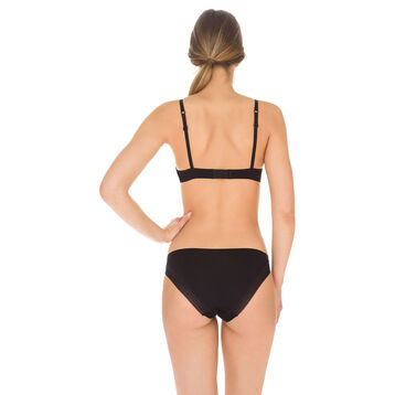Soutien-gorge push-up sans armatures noir Invisi Fit, , DIM