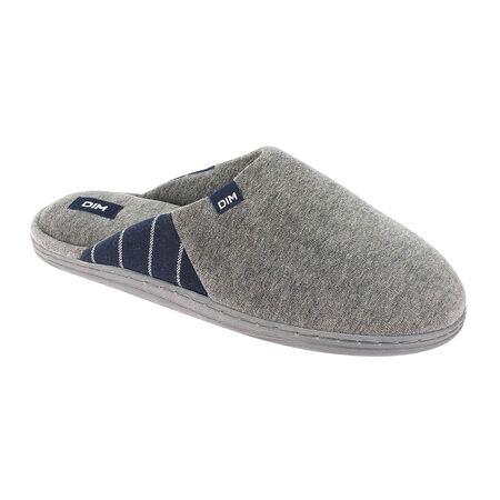 Chaussons pantoufles gris en velours Homme b2bc1dc18b91
