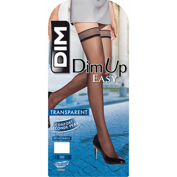 Bas up noirs transparents DIM UP EASY 15D, , DIM