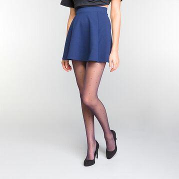Collant plumetis bleu marine 15D - Dim Style, , DIM