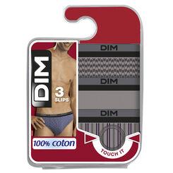 Lot de 3 slips à imprimé baroque 100% Coton-DIM