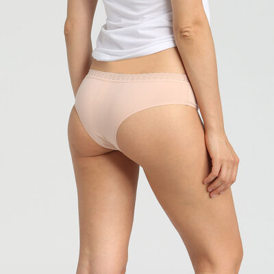 Lot de 2 hipsters coton stretch skin rose Dim Basic Fashion, , DIM