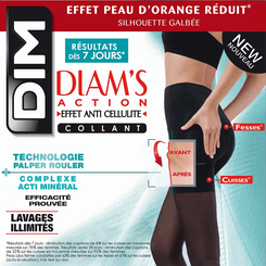 Collant noir Diam's action anti-cellulite 45D-DIM