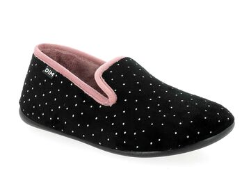 Chaussons type charentaises noirs Femme-DIM