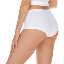 Lot de 2 boxers blancs Femme Coton Plus Bio-DIM