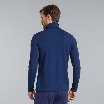 Tee-shirt de pyjama manches longues col roulé bleu marine-DIM