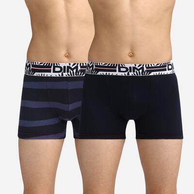 Lot de 2 boxers garçon bleus à rayures Dim Boy, , DIM